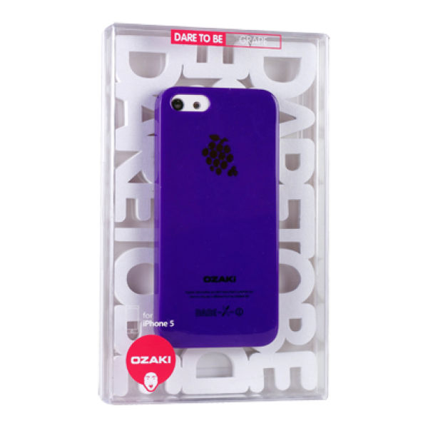 Ozaki, iPhone SE 5/5s, OCoat Fruit case Grape, Violett